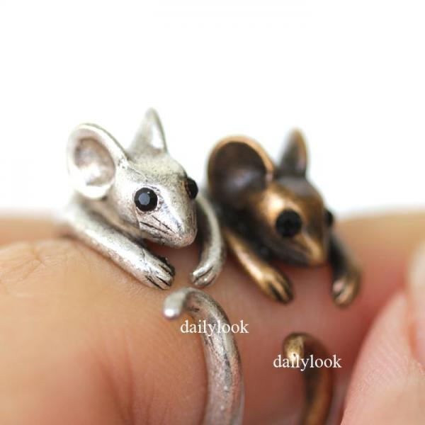 mouse ring, retro mouse ring, retro ring, animal ring, man ring, cute ring, vintage ring, wrap ring, antique ring, retro jewelry, mouse